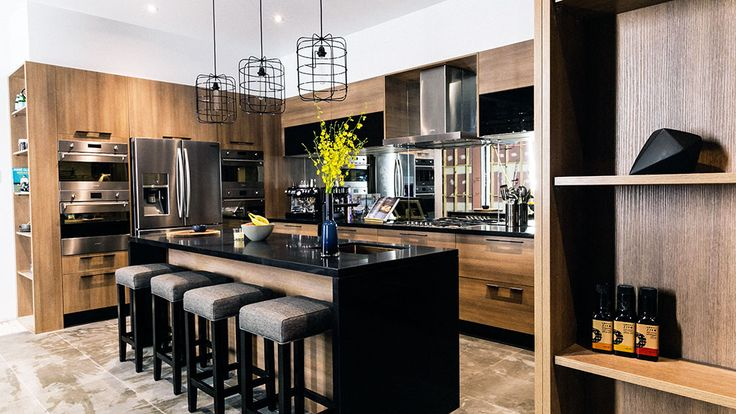The judges loved Chris and Jenna's timber take on a kitchen.
