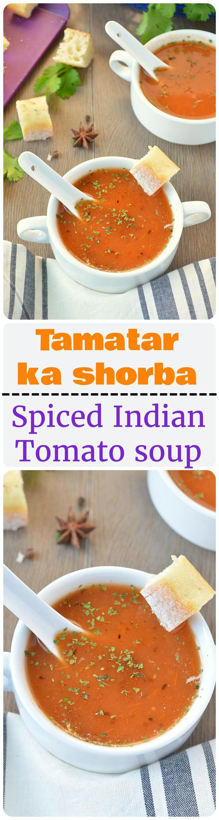 freshly made Tamatar ka shorba – spicy and flavorsome Indian tomato ...