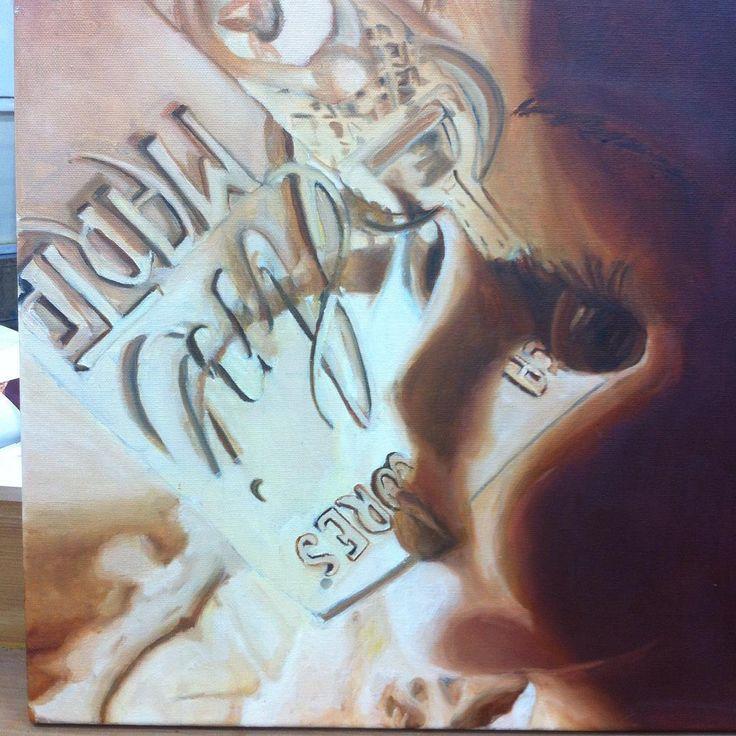 pintura al oleo 40x40 #muñecasdeporcelana #artes #oleo