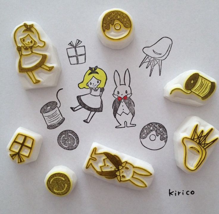 #RubberStamp via : Instagram @kiringostamp -- [for more rubber stamp ideas @iamlookkaew] --