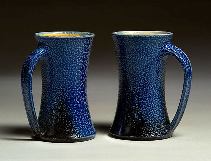 Functional Pottery: Salted Mugs by Paula Cooley