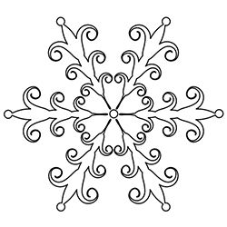 Snowflake Coloring Page 7
