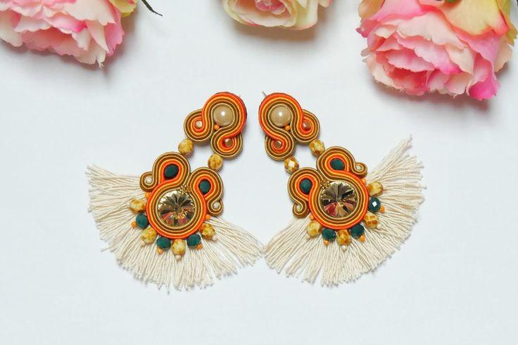 Boho earrings  #bohemian #ethnic #soutache #bohochic #ohrringe #etsy #ethno #fashion #modern #christmas #giftideas https://www.etsy.com/listing/556454976/big-ethnic-earrings-boho-earrings?ref=listing-shop-header-0