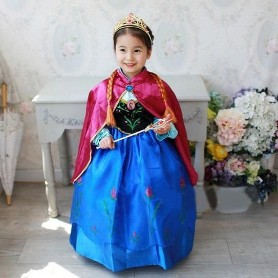 Kostium karnawałowy Księżniczka Anna Kraina Lodu Disney 98-128cm