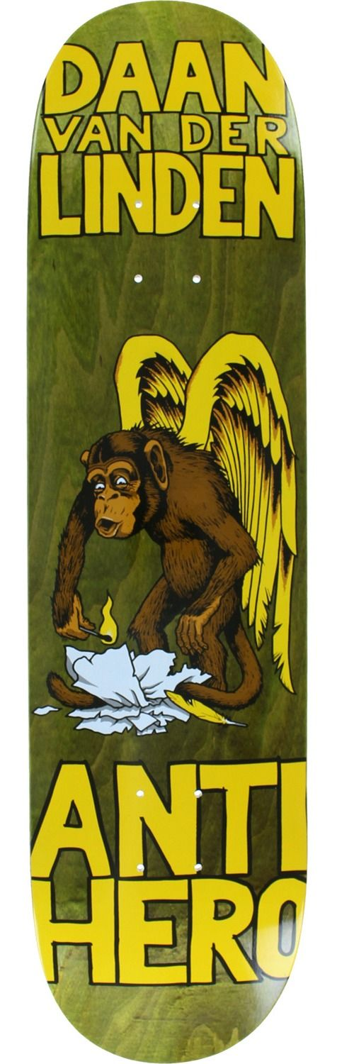 Anti Hero Skateboards First 2 Brown Skateboard Deck
