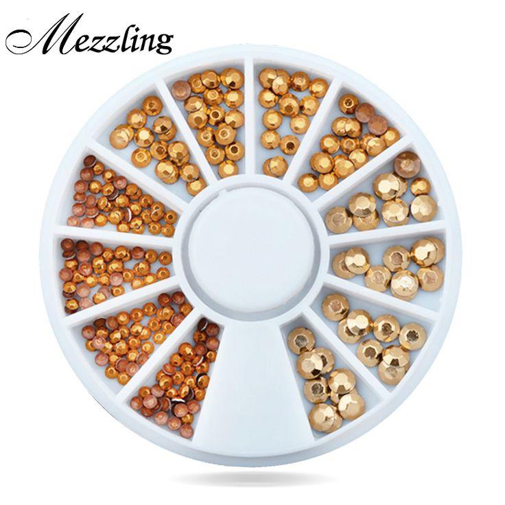 Nuevo Oro Del Arte Del Clavo 3d Decoración Rhinestone de Acrílico Glitter Nail Charm Accesorios Herramientas