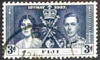 Postage Stamps Fiji 1937 King George VI Coronation SG 248 Fine Mint Scott 116 Other Fiji Stamps HERE
