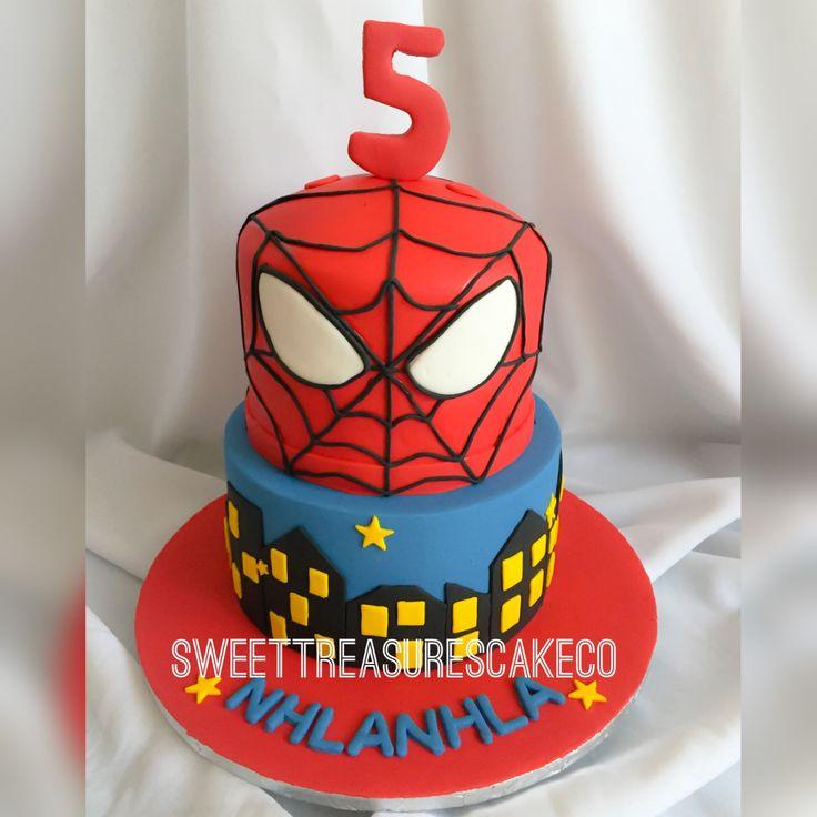 Celebrated Nhlanhla's 5th birthday party with this vanilla spider man themed cake    #southafrica #johannesburg #joburg #bestcakesintown #customcakes #sweettreasures #sweettreasurescakeco #kidsparty #spiderman #superheros #nhlanhla #5