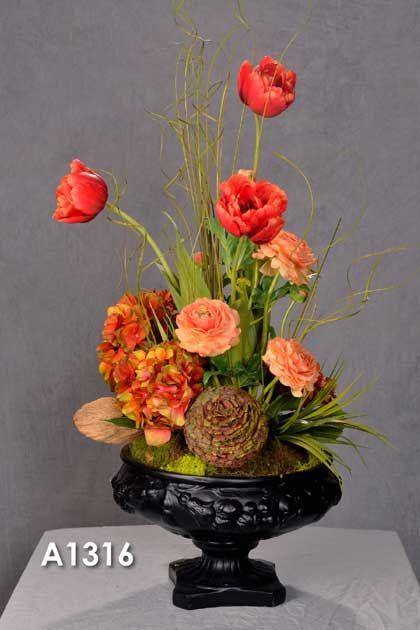 Wholesale Silk Flower Centerpieces | Wholesale Silk Floral Arrangements, Feather Flower Arrangements ...