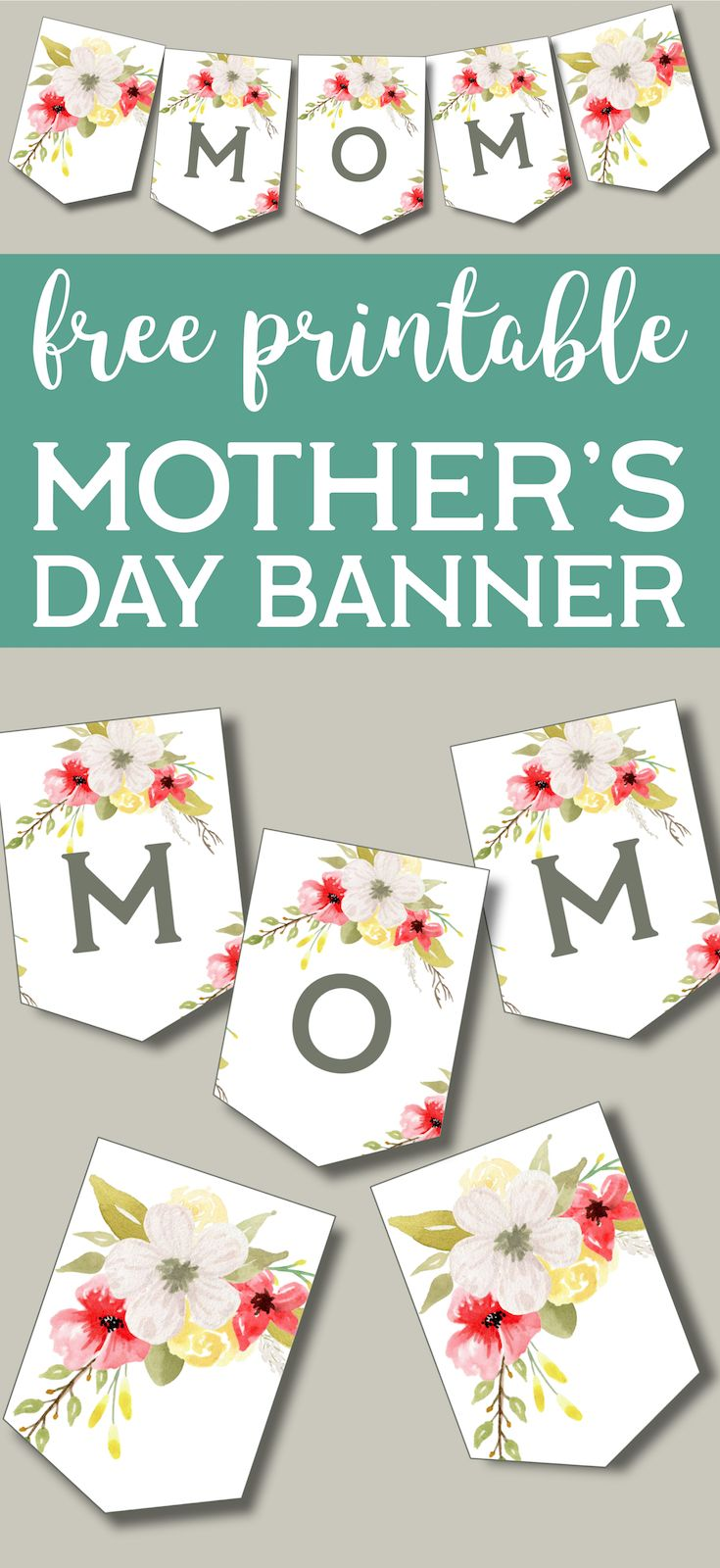 Mother S Day Banner Printable Paper Trail Design Mother S Day Banner Mothers Day Decor Diy Mother S Day Decorations
