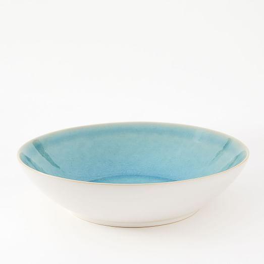 Alta Reactive Glaze Pasta Bowls (Set of 4) - Turquoise
