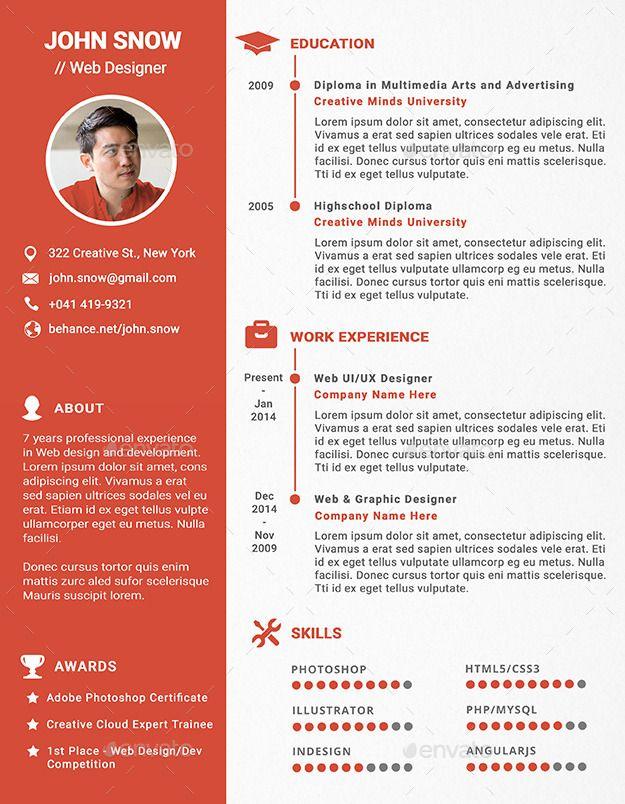 Web And Graphic Designer Resume Cv Ad Graphic Affiliate Web Designer Cv Graphic Design Resume Resume Design Graphic Design Cv