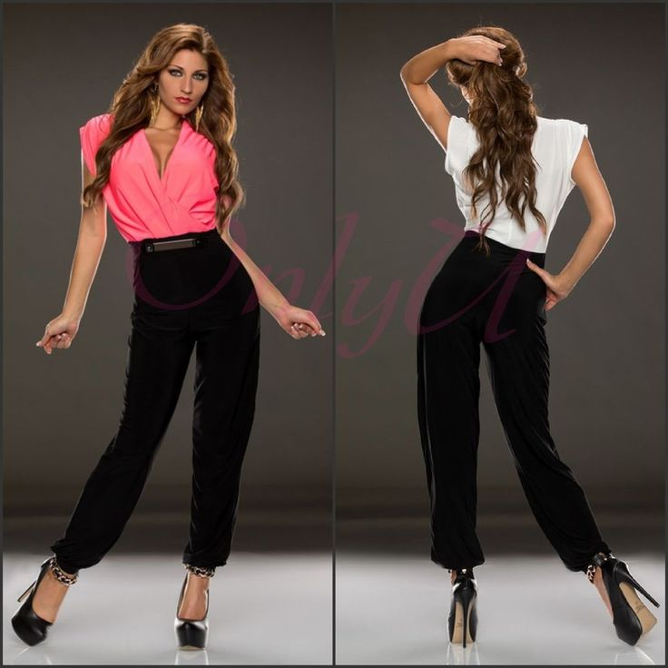 Sexy Women's Lace Monochrome Belted High Waisted Ankle Chino Jumpsuit