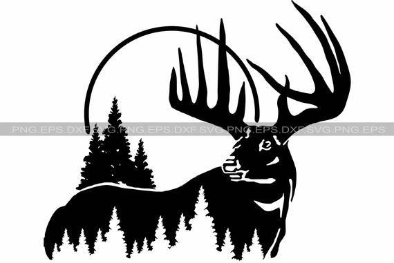 Deer Svg Png And Svg Png Files Instant Download Vector Etsy In 2021 Deer Svg Hunting Svg Deer