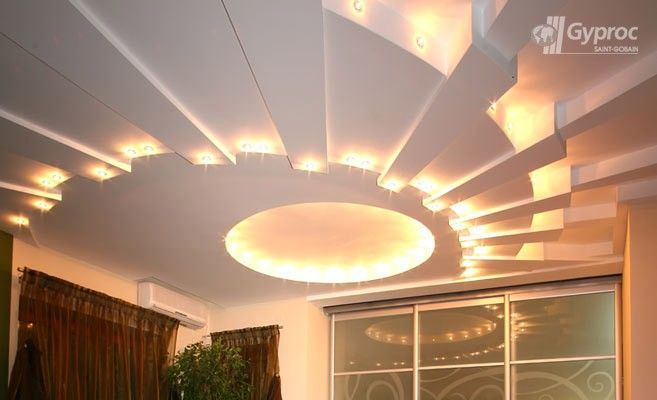 Saint gobain gyproc hindistan oda tavan tasar mlar ya am for Living room false ceiling designs pictures