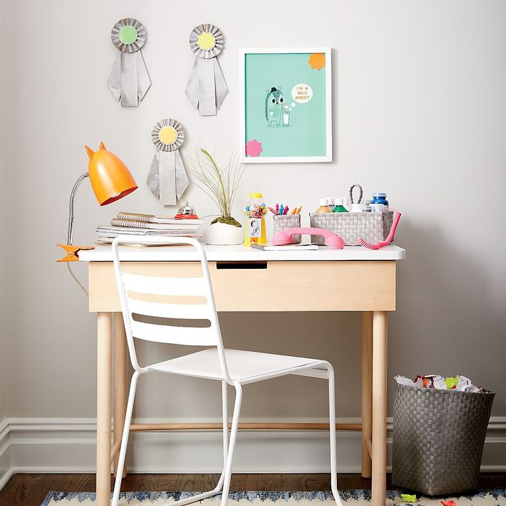 Shop Foundation Desk.  Our Foundation Desk lays the groundwork for creating the perfect workspace for kids.  Featuring a unique two-tone natural and white finish, this gender-neutral desk easily matches with any furniture you may have.