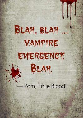 Blah blah. True Blood. #TrueBlood #fangs #TB