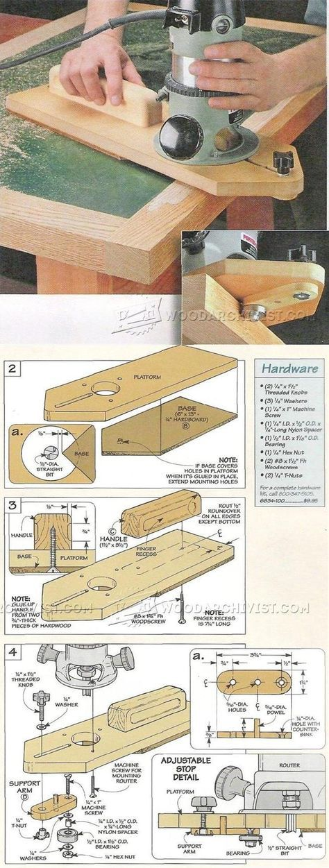 Flush Trim Jig - Edging Tips, Jigs and Techniques | WoodArchivist.com
