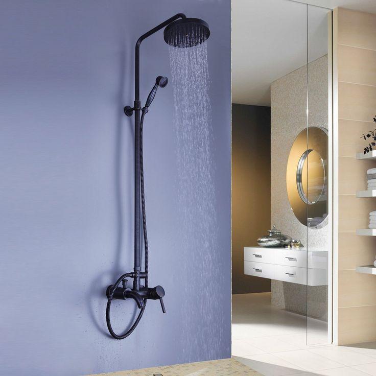 Achetez (Entrepôt UE) Pluie de Montage mural cascade murale Bronze huilé   robinet de douche de poche avec le Meilleur Prix et le Meilleur Service!