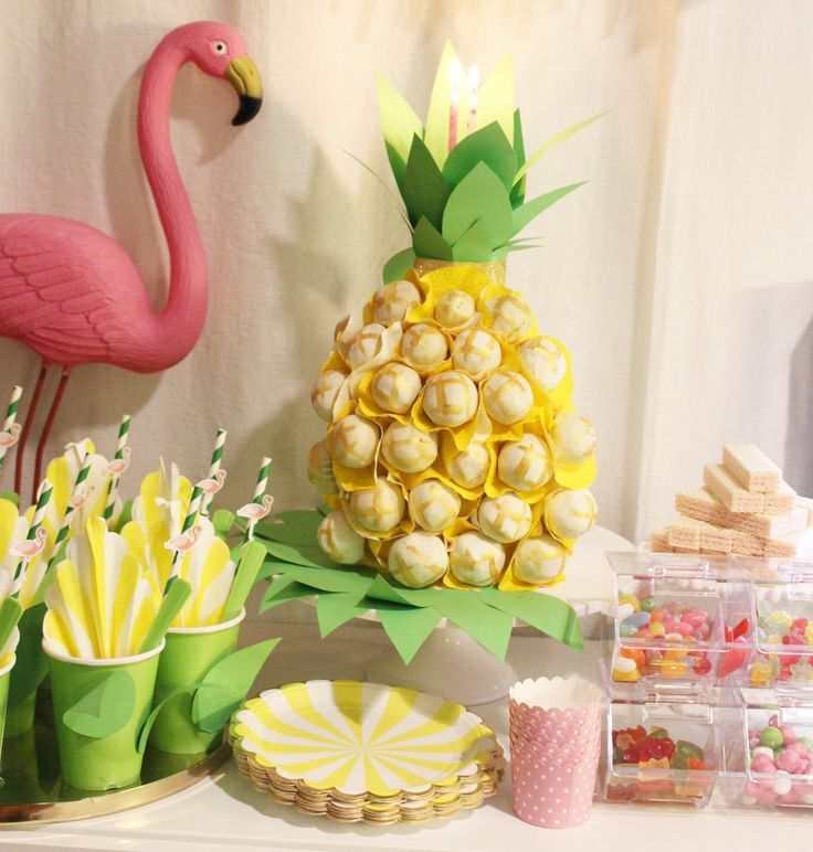 Tropical birthday party - Cake pops Cake