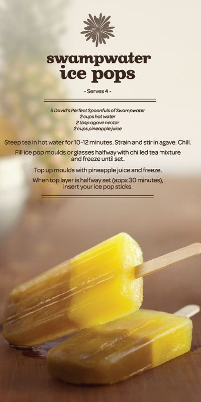 "David's Tea ""Swamwater"" ice pops - YES, yes, 1000x YES!"