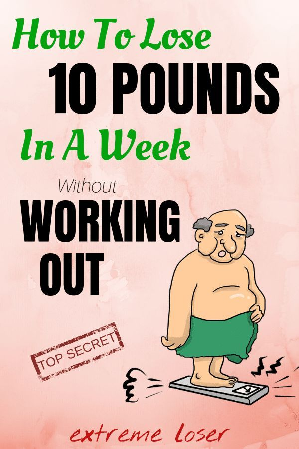 No weight loss week of period