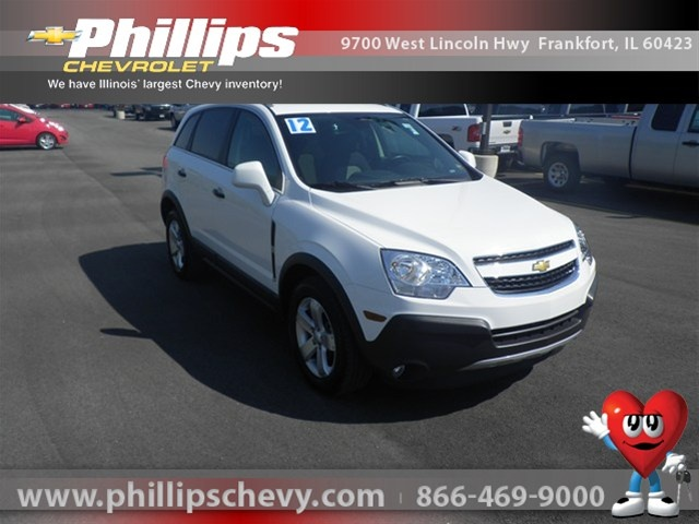 We have this pre-owned GM Certified 2012 Chevrolet Captiva Sport, Arctic Ice, 11476938 Internet Priced at $22,995.00    http://www.phillipschevy.com/2012-Chevrolet-Captiva-Sport-2LS-Chicago-IL/vd/11476938#