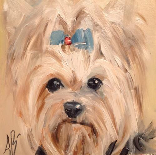 Little cutie  Oil painting by  Annette Balesteri www.dailypaintworks.com