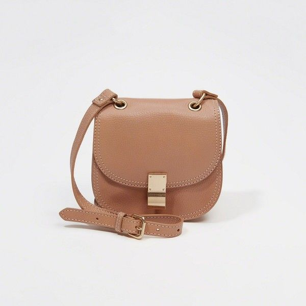Abercrombie & Fitch Leather Crossbody ($98) ❤ liked on Polyvore featuring bags, handbags, shoulder bags, nude, leather shoulder bag, mini shoulder bag, leather crossbody handbags, leather purses and leather crossbody purse