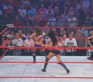 Off with her head!    #wrestling  #tna  #sacrifice  #brooke #tessmacher #gail #kim  #gif