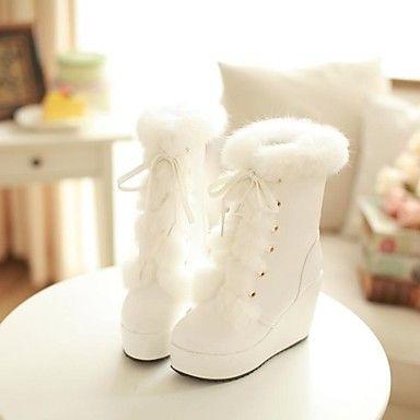 chaussures pour femmes à bout rond bottes talon compensé la cheville plus de couleurs disponibles – EUR € 30.59