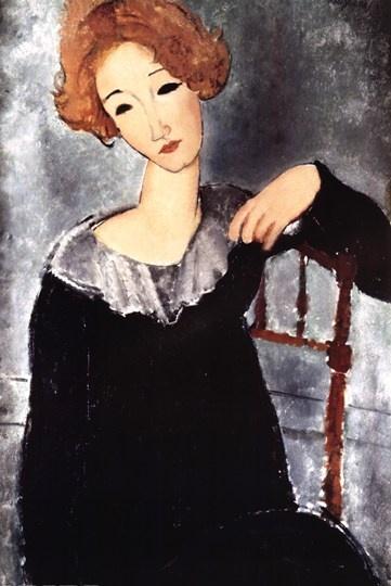 Ritratto di una Donna con i cappelli rossi di Amedeo Modigliani!