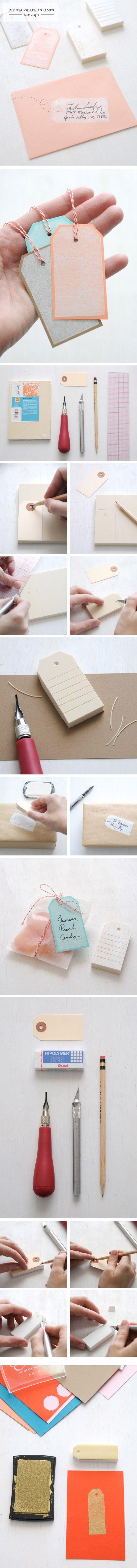 Cómo hacer sellos con forma de etiqueta