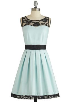 $99.99 Soiree Stunner Dress, #ModCloth. Not sure about the black but like the style and color