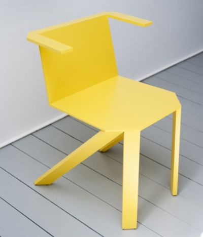 This chair is made from easily available standard aluminium sheet