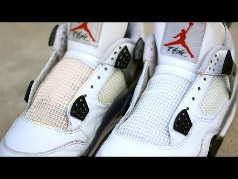 new style 4010a 1828d RESTORATION  HOW TO UNYELLOW CLEAN JORDAN 4 NETTING!!! - YouTube