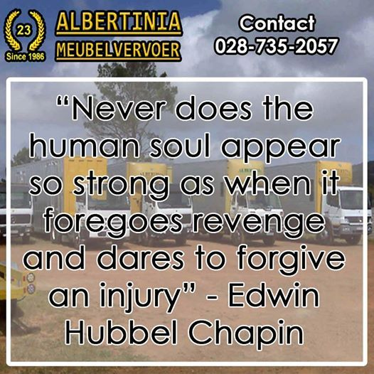 """Never does the human soul appear so strong as when it foregoes revenge and dares to forgive an injury"" - Edwin Hubbel Chapin #Sunday #quotes"