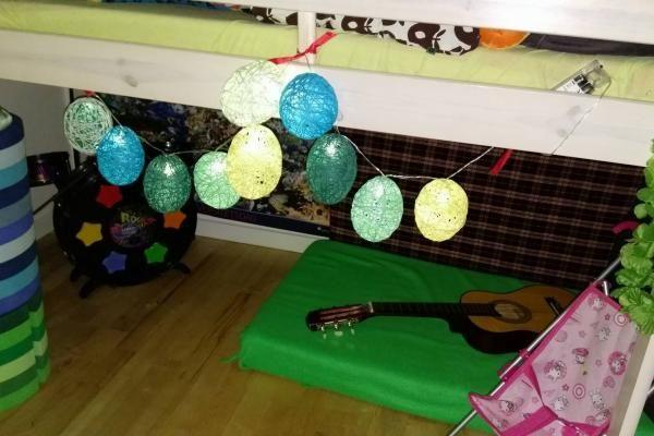 lyskæde af vandballoner