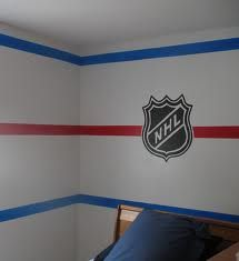 bedroom walls painted like a hockey rink - Google Search