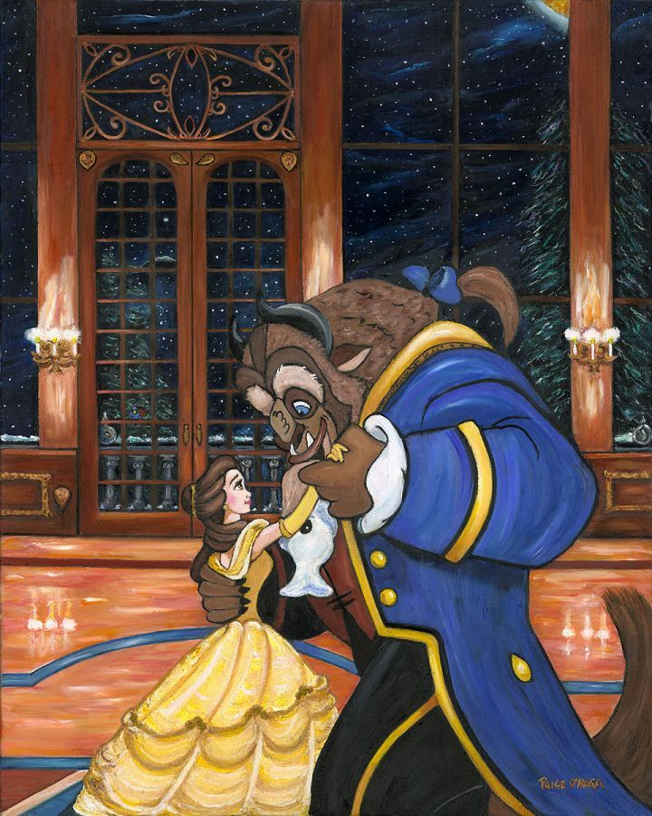 """""""First Dance"""" by Paige O'Hara   Disney Fine Art   Disney's Beauty and the Beast"""