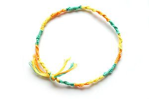 Make a Chinese Staircase Bracelet- Directions for making tangle free earbuds.