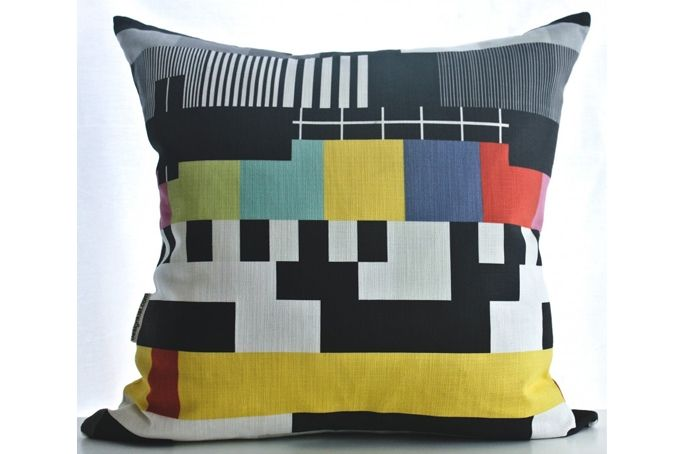 TV Pattern cushion cover by Design Kist on hellopretty.co.za