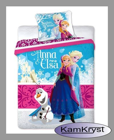 Nowy wzór pościeli Kraina Lodu 160x200 dostępna na stronie naszego sklepu - zapraszamy #Frozen_bedding #Disney_Frozen #Girls_Bedding #Frozen