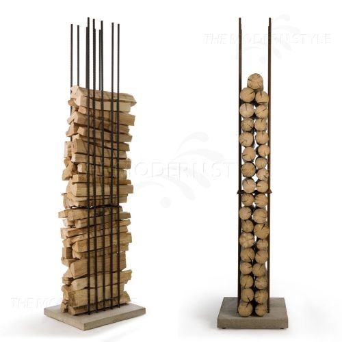 Firewood holder... wonder if Hubs could DIY this? We'll need one this winter!