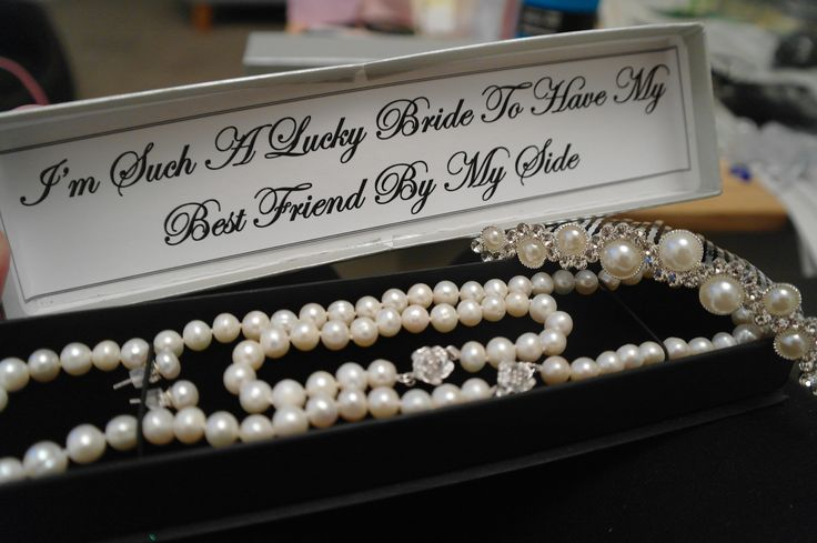 Maid of Honor Gift; Bridesmaids gifts