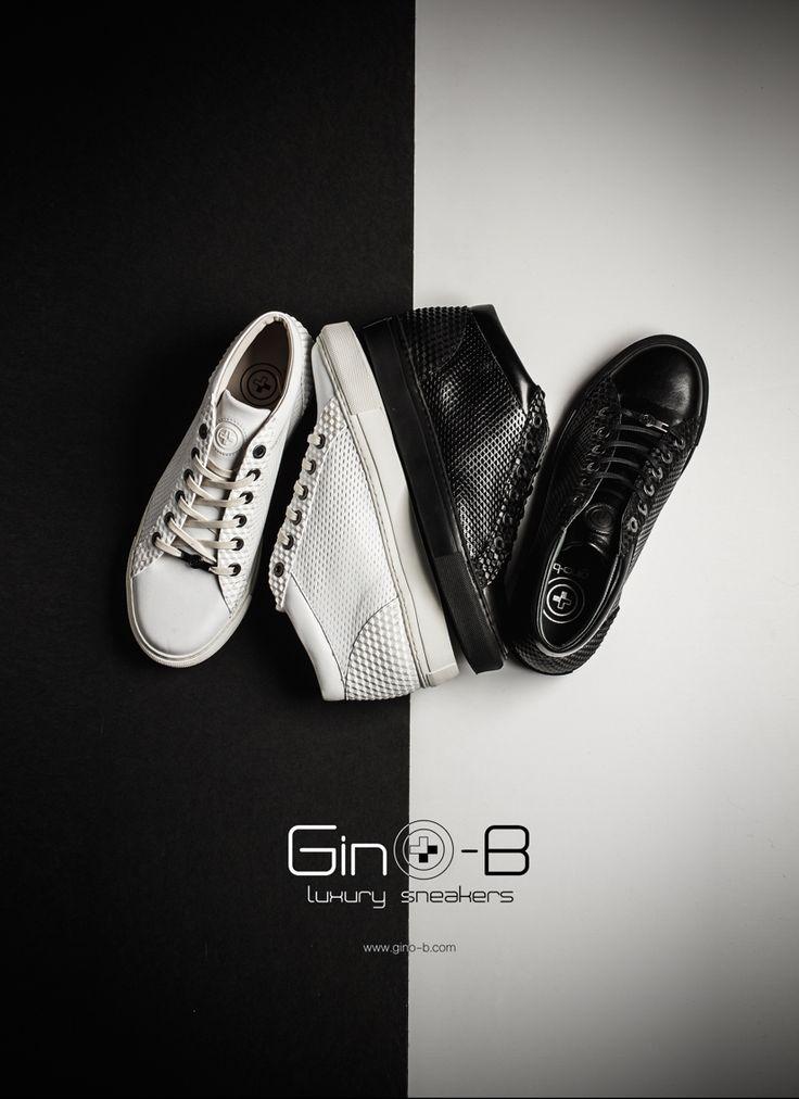 Gino-b sneakers , luxury sneakers , just feel them , B&W