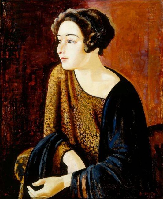 Portrait of The Poet Elina Vaara by Yrjö Ollila, 1929
