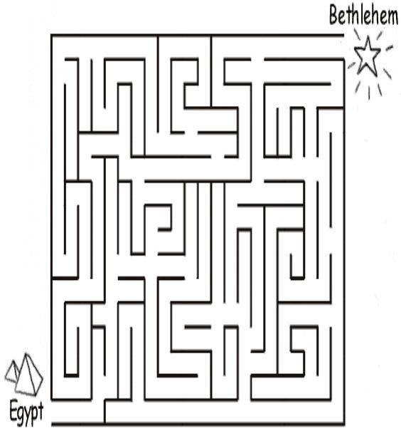 Joseph and Mary Escape to Egypt Maze