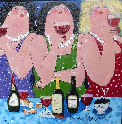 Schilderkunst-Anouschka: Dikke dames voor de Huisartsenpost