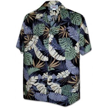 chemise hawaienne ...Black leaves